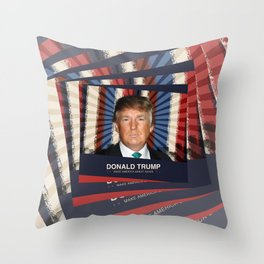 Donald Trump 2016 Throw Pillow