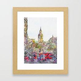 London Street 4 by Jennifer Berdy Framed Art Print
