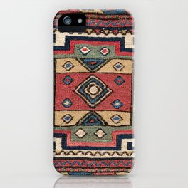 Cowboy Sumakh // 19th Century Colorful Red White Blue Western Lone Star Dallas Ornate Accent Pattern iPhone Case
