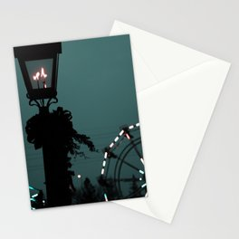 The lonely night Ferris-wheel Stationery Cards