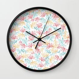 Coral Reef Branches Wall Clock