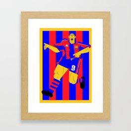R9 BlauGrana Framed Art Print