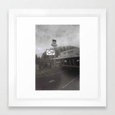 TWIN PEAKS CAFE Framed Art Print