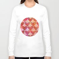hearts Long Sleeve T-shirts featuring Hearts by LebensARTdesign