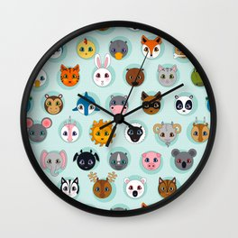 Baby Animal Dots Wall Clock