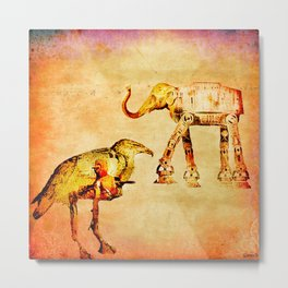 The empire of animals attacks Metal Print