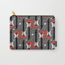 Rock and Roll_ Red and White Guitar Carry-All Pouch