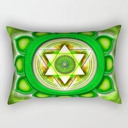 "Anahata Chakra - Heart Chakra - Series ""Open Chakra"" Rectangular Pillow"