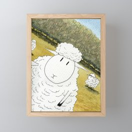 Sheep Selfie Fail Framed Mini Art Print
