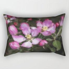 Pink Apple Blossoms Rectangular Pillow
