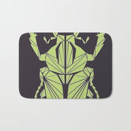 Envious Beetle - Geometric Insect Design Bath Mat