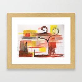 Love Swans Framed Art Print
