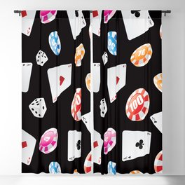 #casino #games #accessories #pattern 2 Blackout Curtain
