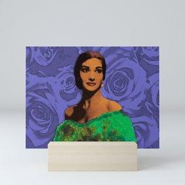 Maria Callas Stenciled Indigo Mini Art Print