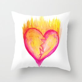 Cracked Passion Throw Pillow