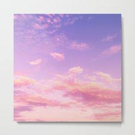 Cranberry Sky Pink Sunrise Print Metal Print