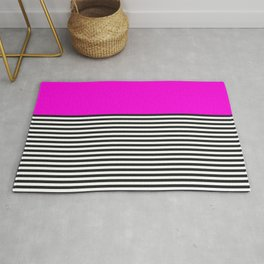 STRIPE COLORBLOCK {PINK} Rug