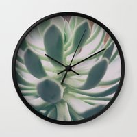 plant Wall Clocks featuring Plant by pf_photography