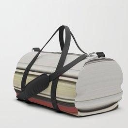 Modern Warm Color Stripes Duffle Bag