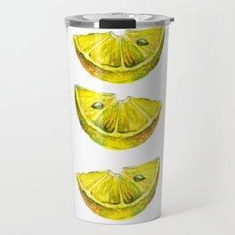 Lemon Slices White Travel Mug