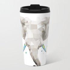 Geosafari | Elephant (White) Metal Travel Mug