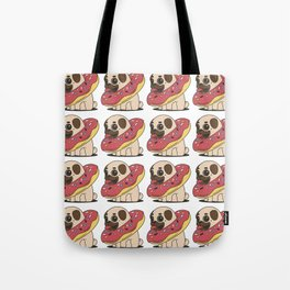 Pug Doughnut Wallpaper Tote Bag