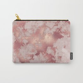 Copper Metal Veins on Marble Carry-All Pouch