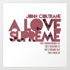 A Love Supreme - John Coltrane / Album Cover Art LP Poster  Art Print