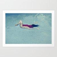 underwater Art Prints featuring underwater by crisismasiva