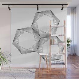 crazy hexagons Wall Mural