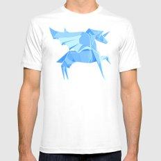Origami Pegasus White MEDIUM Mens Fitted Tee