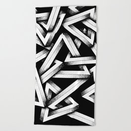 Impossible Penrose Triangles Beach Towel