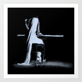 Jazz pianist Art Print