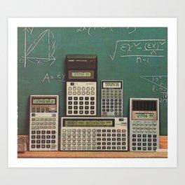 Casio Calculators...the good old days. Art Print