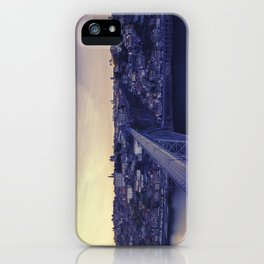 Porto across the bridge. iPhone Case