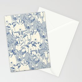 just goats classic blue pearl Stationery Cards