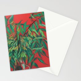Ash-tree, red and  green Stationery Cards