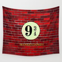 hogwarts Wall Tapestries featuring Hogwarts Express by kattie flynn