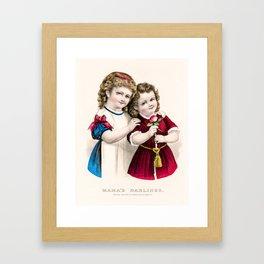 Mamas Darlings Framed Art Print