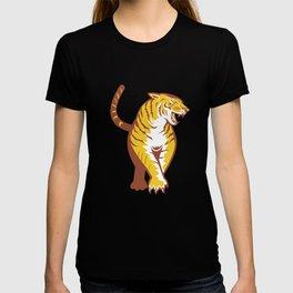 Tiger Prowling Retro T-shirt