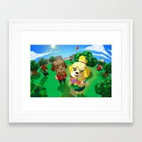 animal crossing Framed Art Prints featuring Animal Crossing by Kaciel