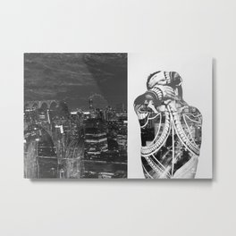Tattoo and architecture of the city Metal Print