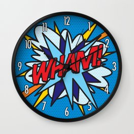 WHAM Comic Book Pop Art Trendy Cool Typography Wall Clock
