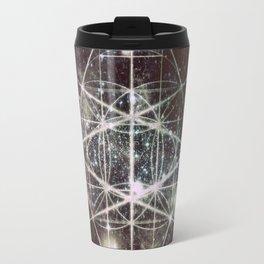 Galaxy sacred Geometry Dark Travel Mug