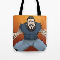 chad wys Tote Bags featuring Chad-verine by Art By Someone