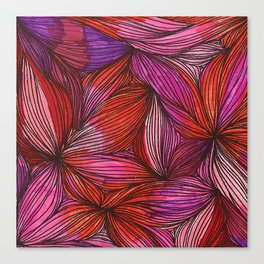 brightly blooming squared Canvas Print