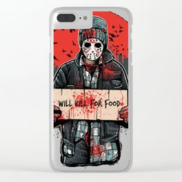 Will Kill For Food Clear iPhone Case
