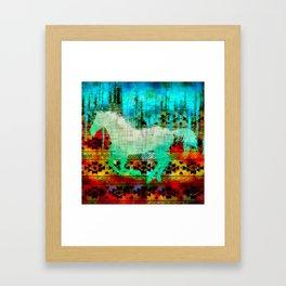 A southwest winter horse Framed Art Print