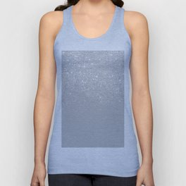 Trendy modern silver ombre grey color block Unisex Tank Top