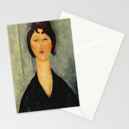 Amedeo Modigliani - Portrait of a Young Woman Stationery Cards